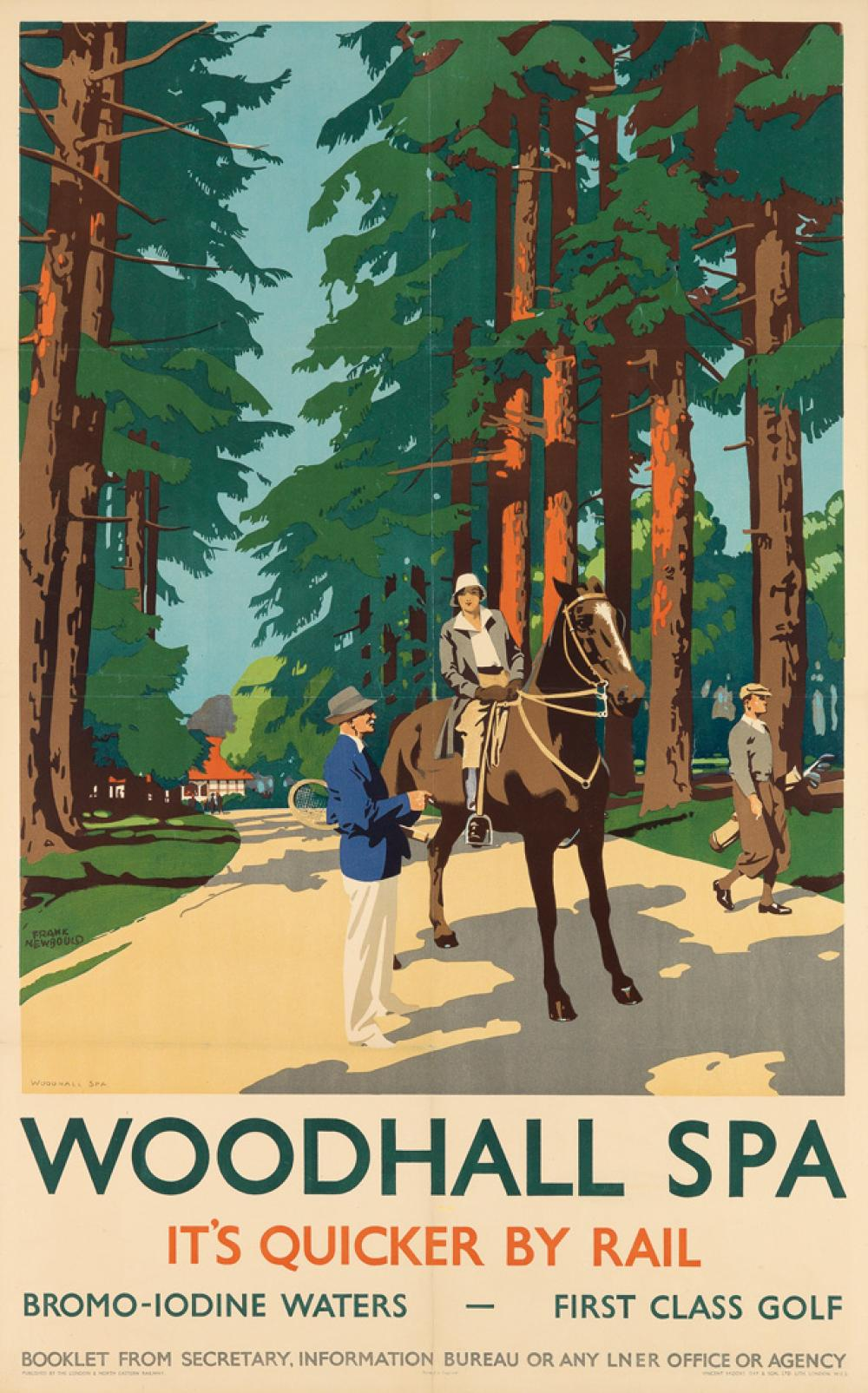 FRANK NEWBOULD (1887-1950). WOODHALL SPA. 40x25 inches, 101x63 cm. Vincent Brooks, Day & Son, London.