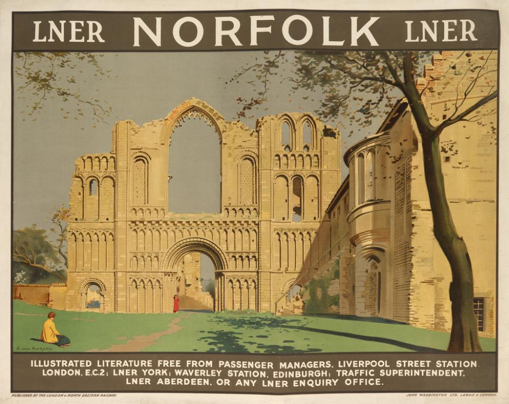 ANTON VAN ANROOY (1870-1949). NORFOLK / LNER. Circa 1925. 40x50 inches, 102x127 cm. John Waddington Ltd., Leeds.