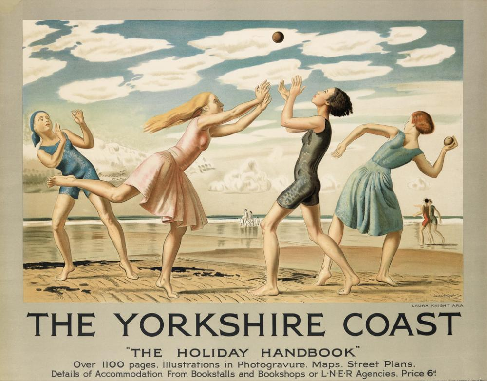 LAURA KNIGHT (1877-1970). THE YORKSHIRE COAST. 1929. 39x49 inches, 99x125 cm. John Waddington, London.