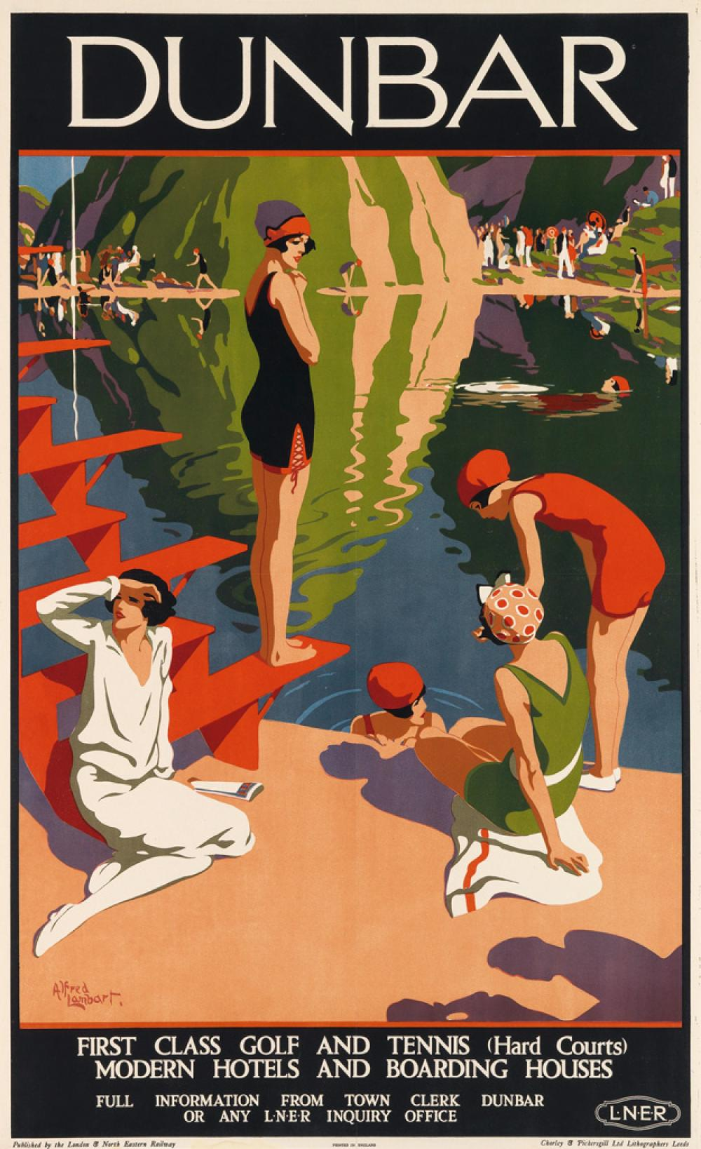 ALFRED LAMBART (1902-1970). DUNBAR. Circa 1925. 40x24 inches, 101x62 cm. Chorley & Pickersgill Ltd., Leeds.
