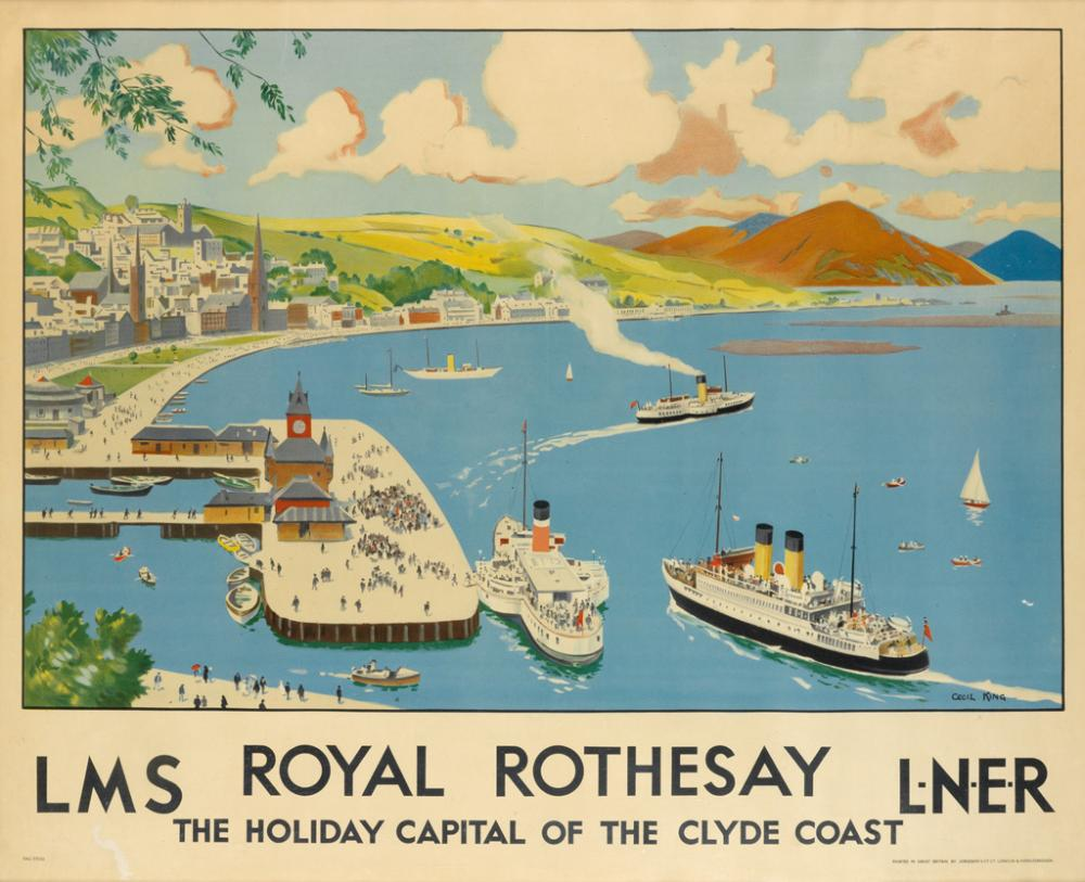 CECIL KING (1881-1942). ROYAL ROTHESAY / LMS. Circa 1930. 39x48 inches, 100x122 cm. Jordison and Co. Ltd., London.