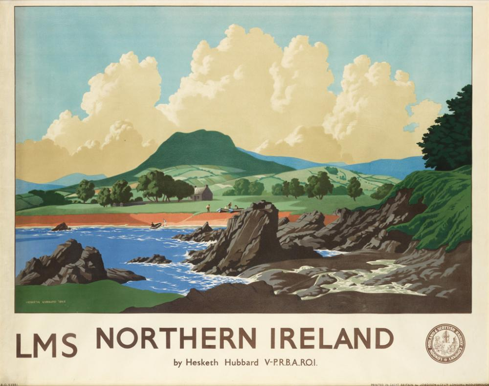 ERIC HESKETH HUBBARD (1892-1957). NORTHERN IRELAND / LMS. 1944. 37x48 inches, 96x122 cm. Jordison & Co. Ltd., London.