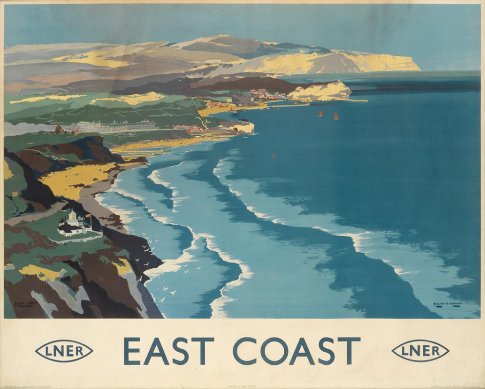 FRANK H. MASON (1876-1965). EAST COAST / LNER. 1935. 39x48 inches, 100x123 cm. Waterlow & Sons Limited, London.