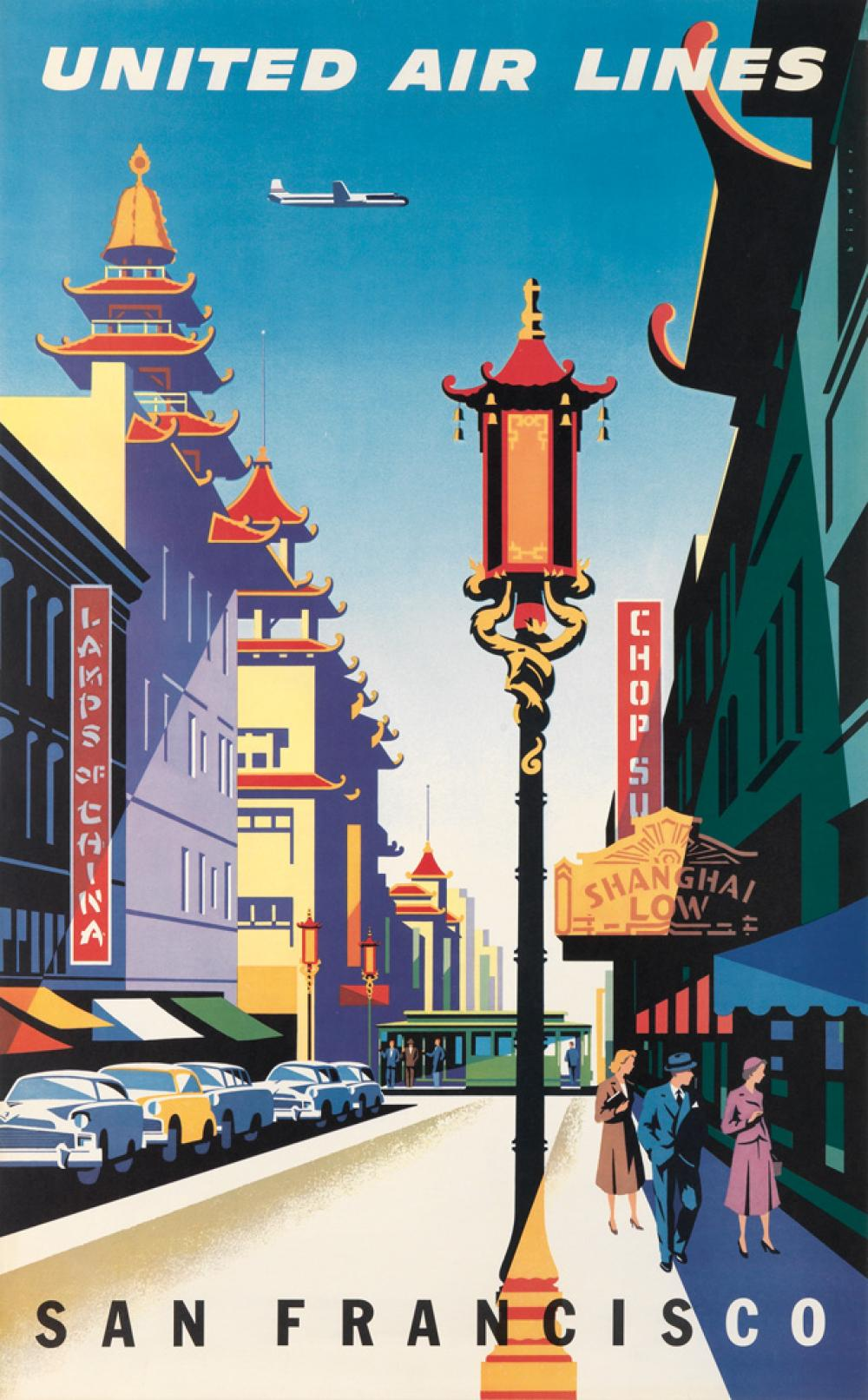 JOSEPH BINDER (1898-1972). UNITED AIR LINES / SAN FRANCISCO. 1957. 40x24 inches, 101x63 cm.