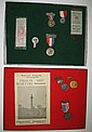 (AMERICAN REVOLUTION.) Group of 10 badges, ribbons, and pamphlets from New York and Yorktown, VA.