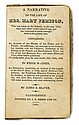 (AMERICAN INDIANS--SENECA.) Seaver, James E. A Narrative of the Life of Mrs. Mary Jemison, who was Taken by the Indians.