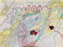 RAYMOND SAUNDERS (1934 -   ) 3 Peas in a Pod.