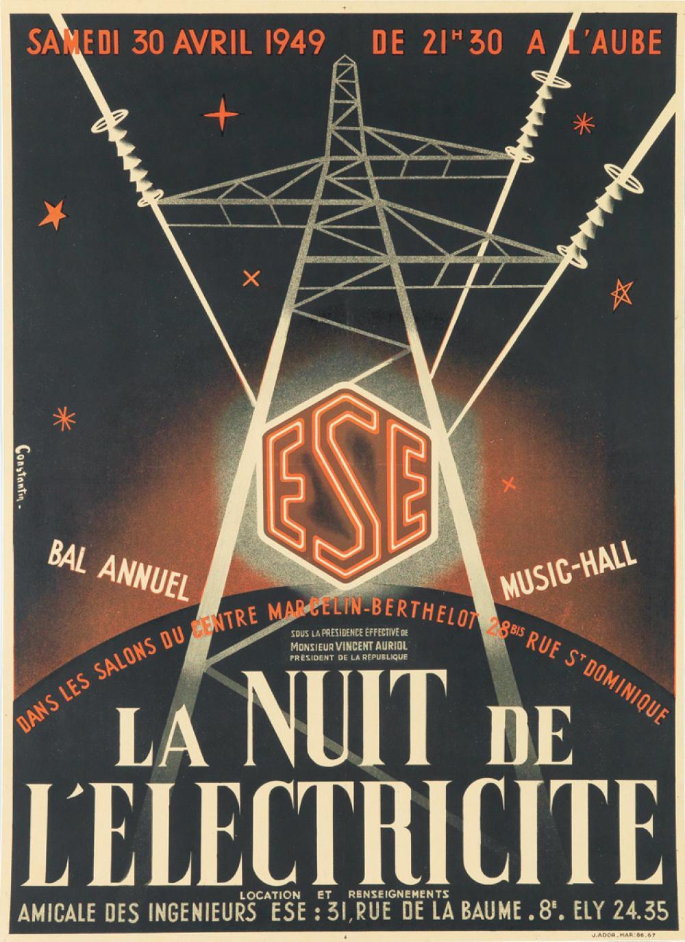 Constantin dates unknown la nuit de l 39 electricite 1949 - Bazar de l electricite paris ...