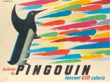 JEAN JACQUELIN (1905-1989). LES LAINES DU PINGOUIN. Circa 1950. 46x62 inches, 118x158 cm. Bedos & Cie., Paris.