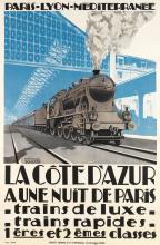 ÉMILE ANDRÉ SCHEFER (1896-1942). LA CÔTE D'AZUR. 1926. 42x27 inches, 106x70 cm. Lucien Serre, Paris.