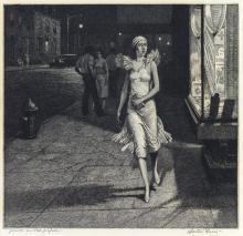 MARTIN LEWIS Night in New York.