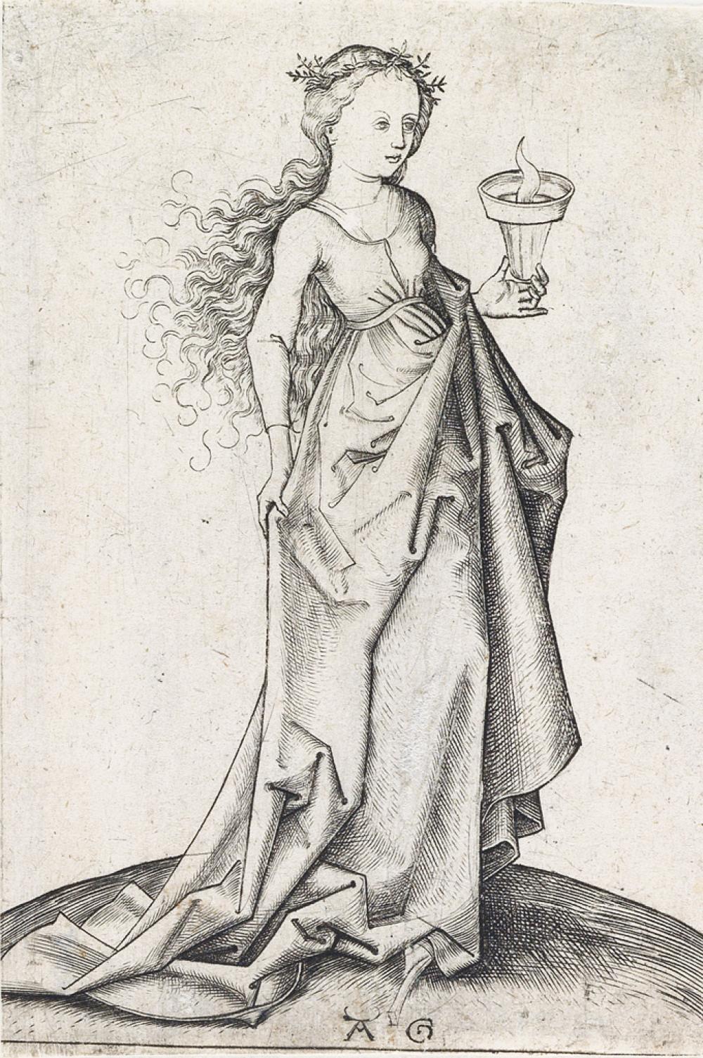 MASTER AG (ALBRECHT GLOCKENDON) (after Schongauer) The Second Wise Virgin