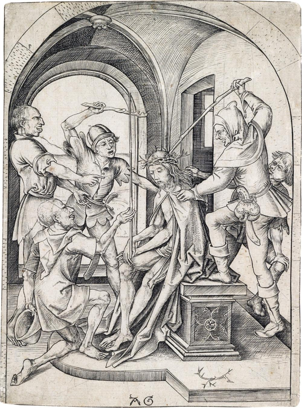 MASTER AG (ALBRECHT GLOCKENDON) (after Schongauer) The Crowning with Thorns