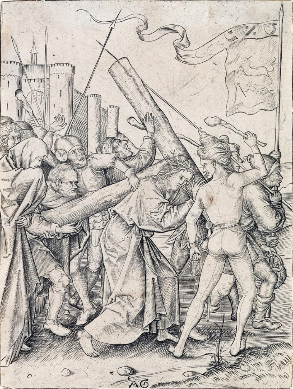 MASTER AG (ALBRECHT GLOCKENDON) Christ Carrying the Cross.