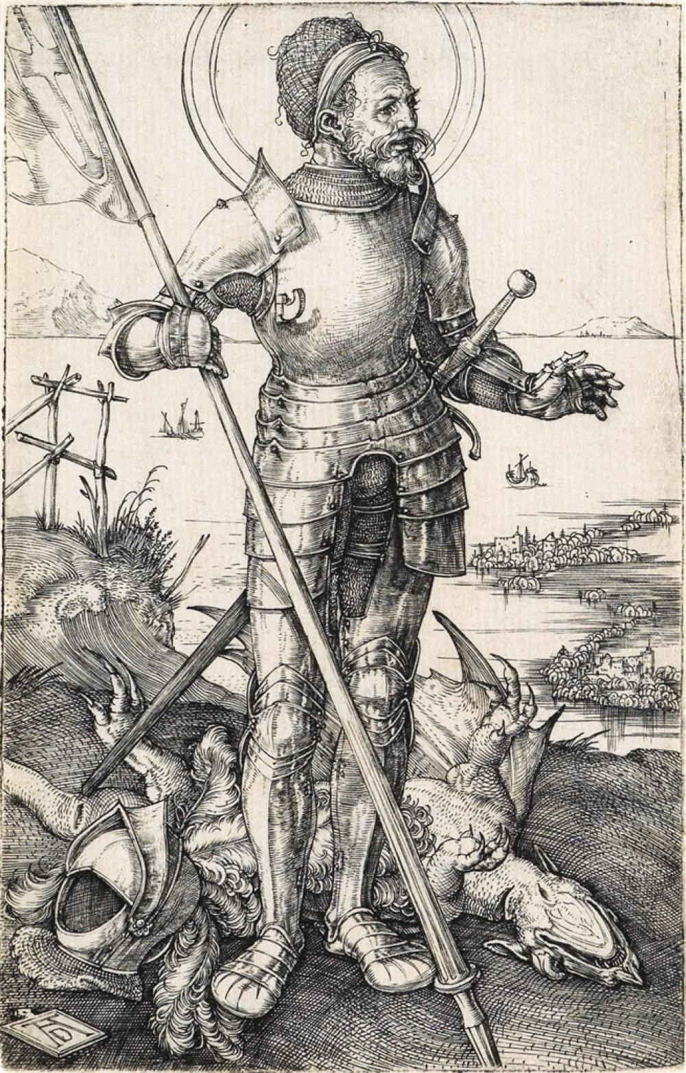 ALBRECHT DÜRER St. George on Foot.