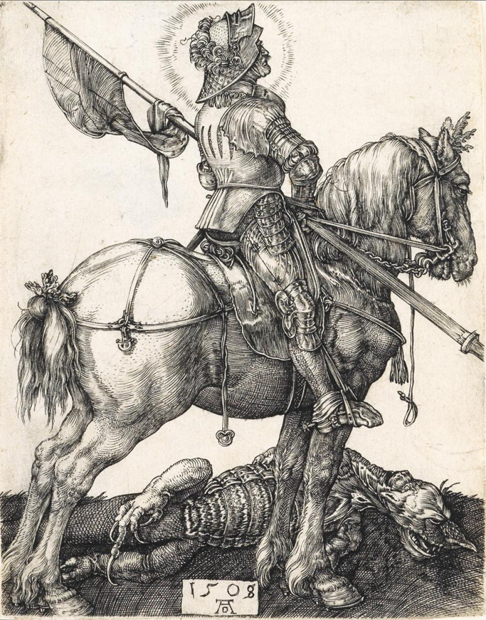 ALBRECHT DÜRER St. George on Horseback.