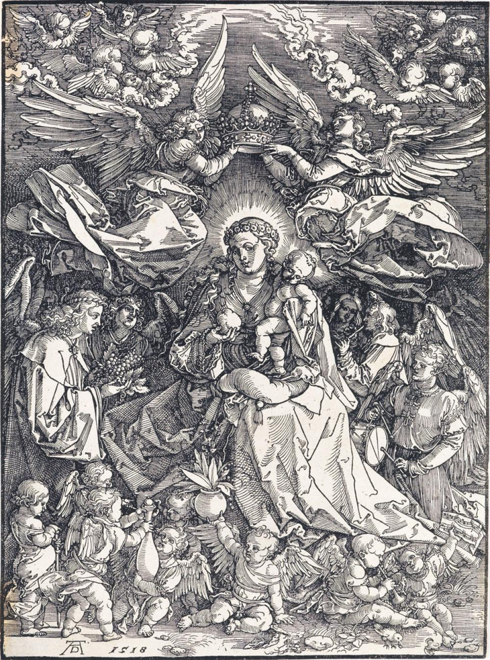 ALBRECHT DÜRER The Virgin Surrounded by Many Angels.
