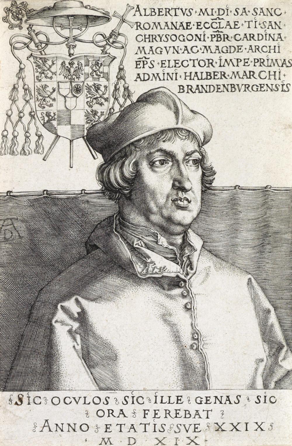 ALBRECHT DÜRER Cardinal Albrecht of Brandenburg.