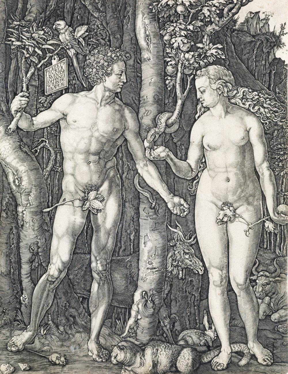 JOHANNES WIERICX (after Dürer) Adam and Eve