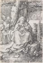 LUCAS VAN LEYDEN Virgin and Child with Two Angels.