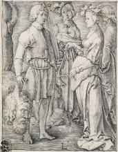 LUCAS VAN LEYDEN Two engravings.