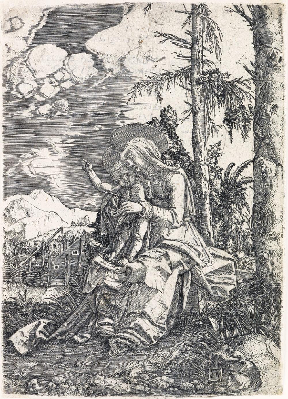 ALBRECHT ALTDORFER Virgin and Child in a Landscape.