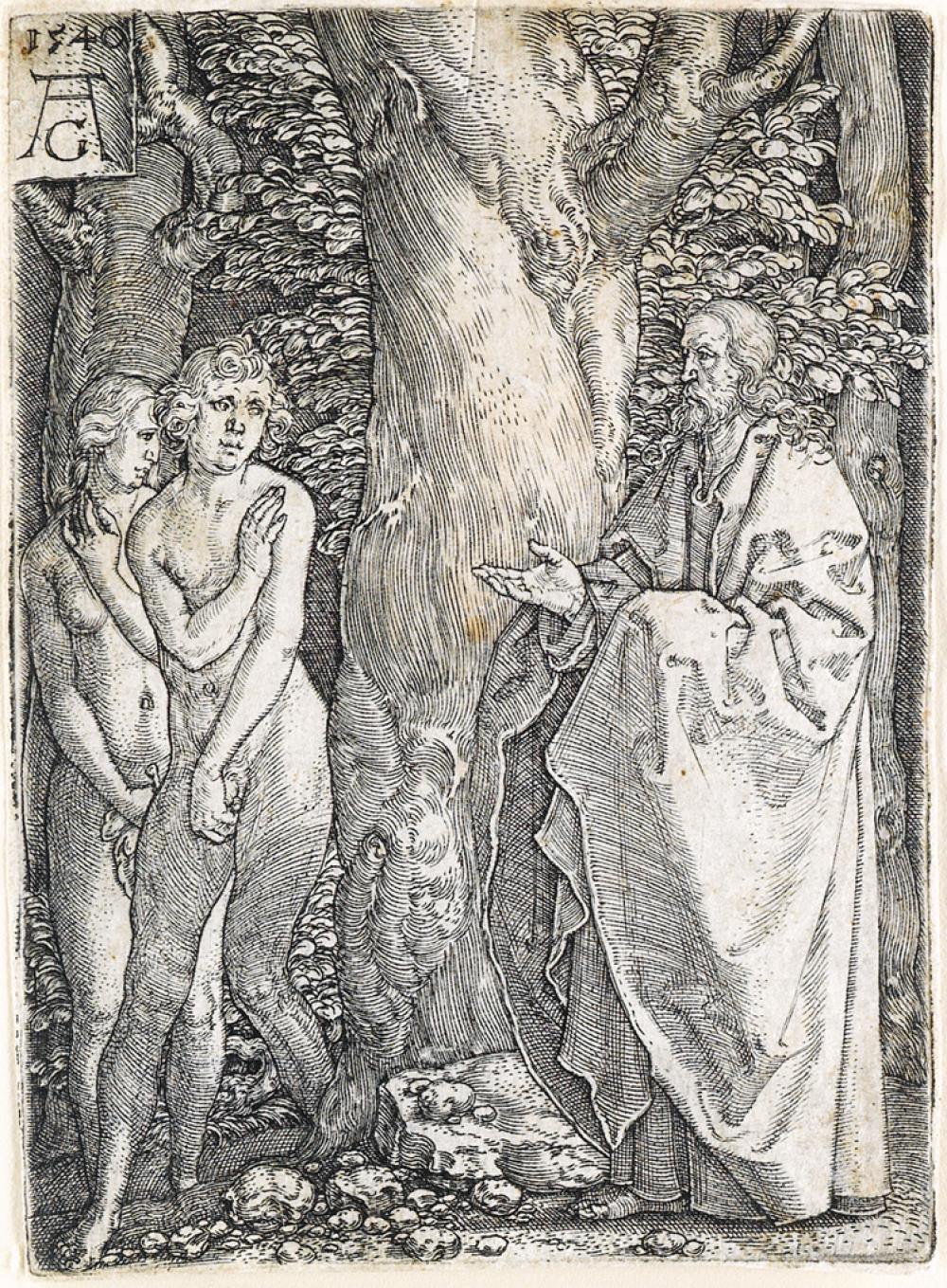 HEINRICH ALDEGREVER Adam and Eve.