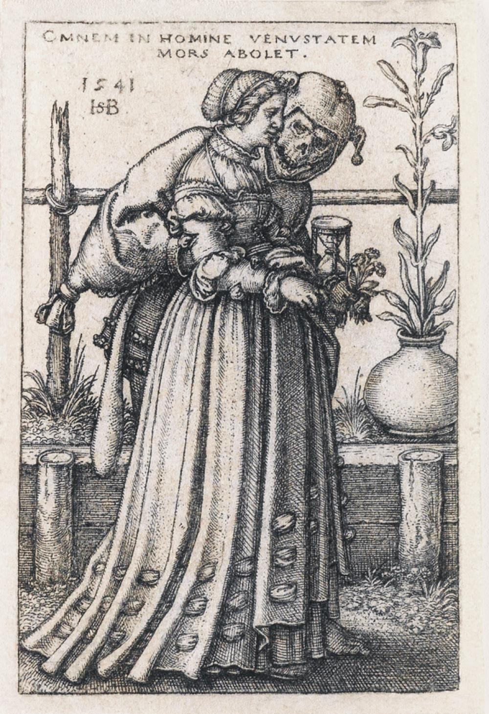 HANS SEBALD BEHAM The Lady and Death.