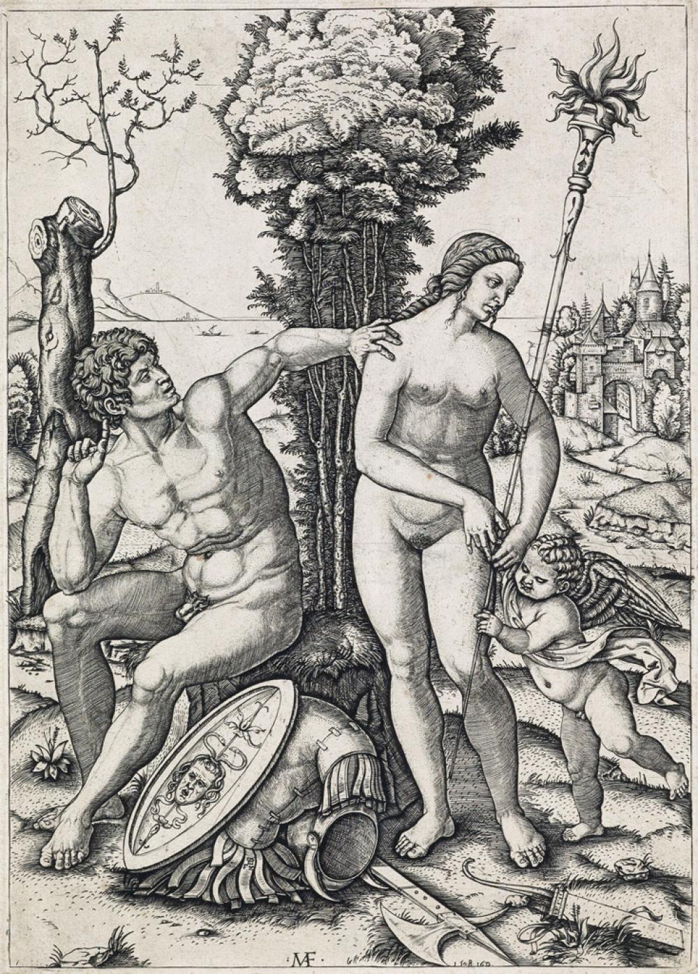 MARCANTONIO RAIMONDI Two engravings.