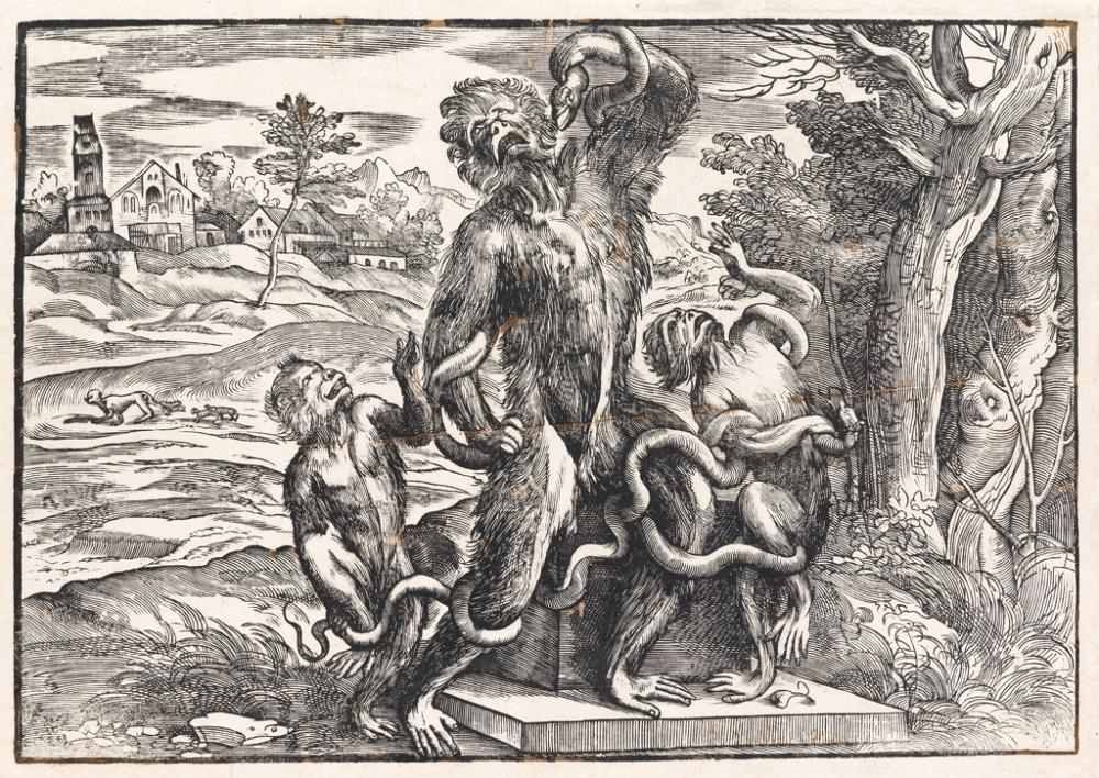 NICOLÒ BOLDRINI (after Titian) Caricature of the Laocoön
