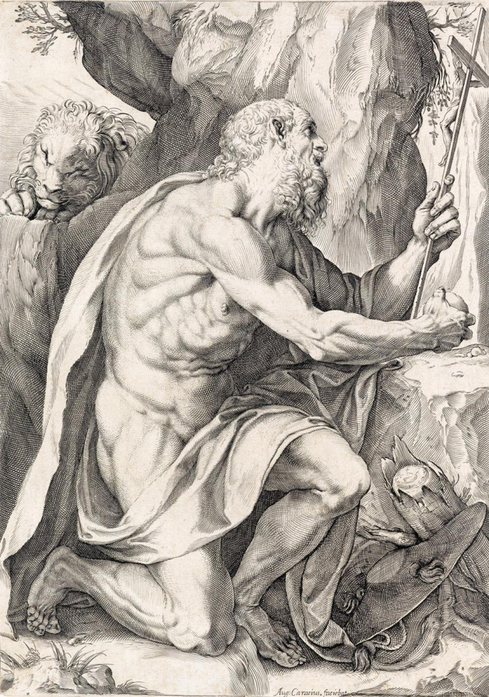 AGOSTINO CARRACCI Saint Jerome.