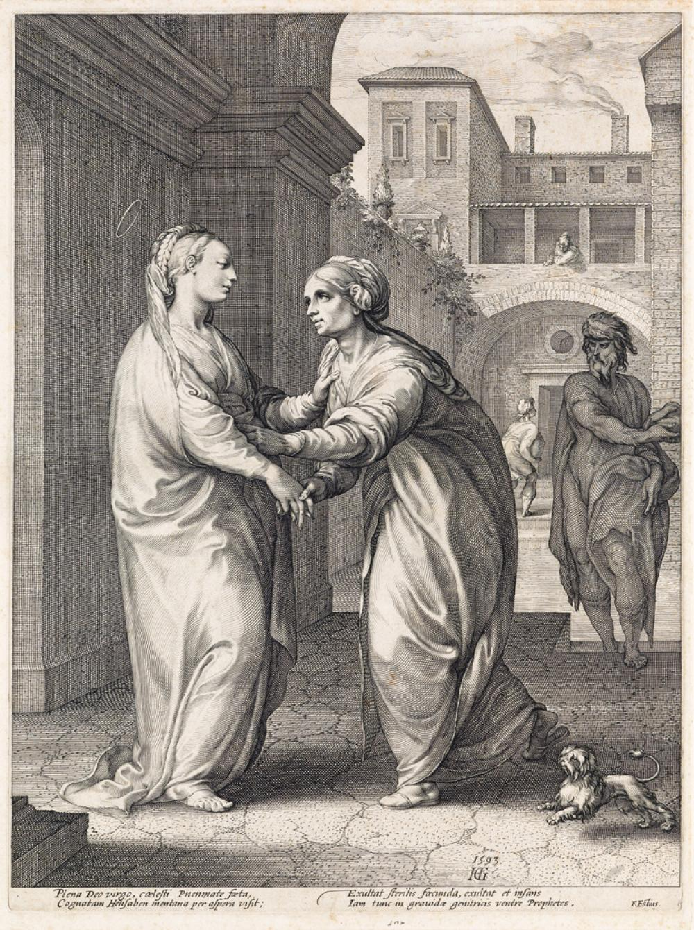 HENDRICK GOLTZIUS The Visitation.