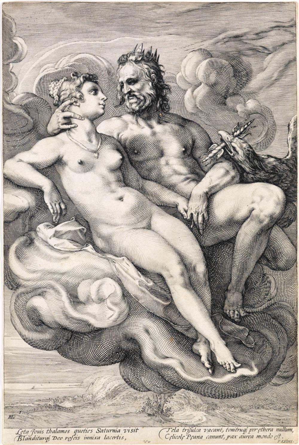 JAN SAENREDAM (after Goltzius) Three Paired Gods and Goddesses