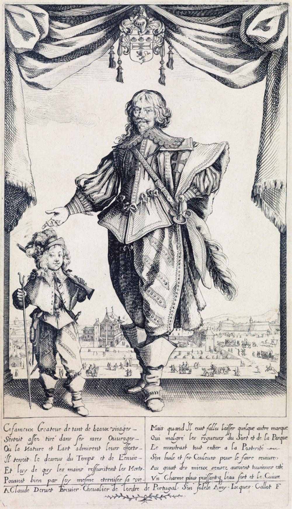 JACQUES CALLOT Portrait de Claude de Deruet.