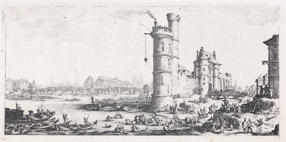 JACQUES CALLOT Vue du Pont-Neuf.