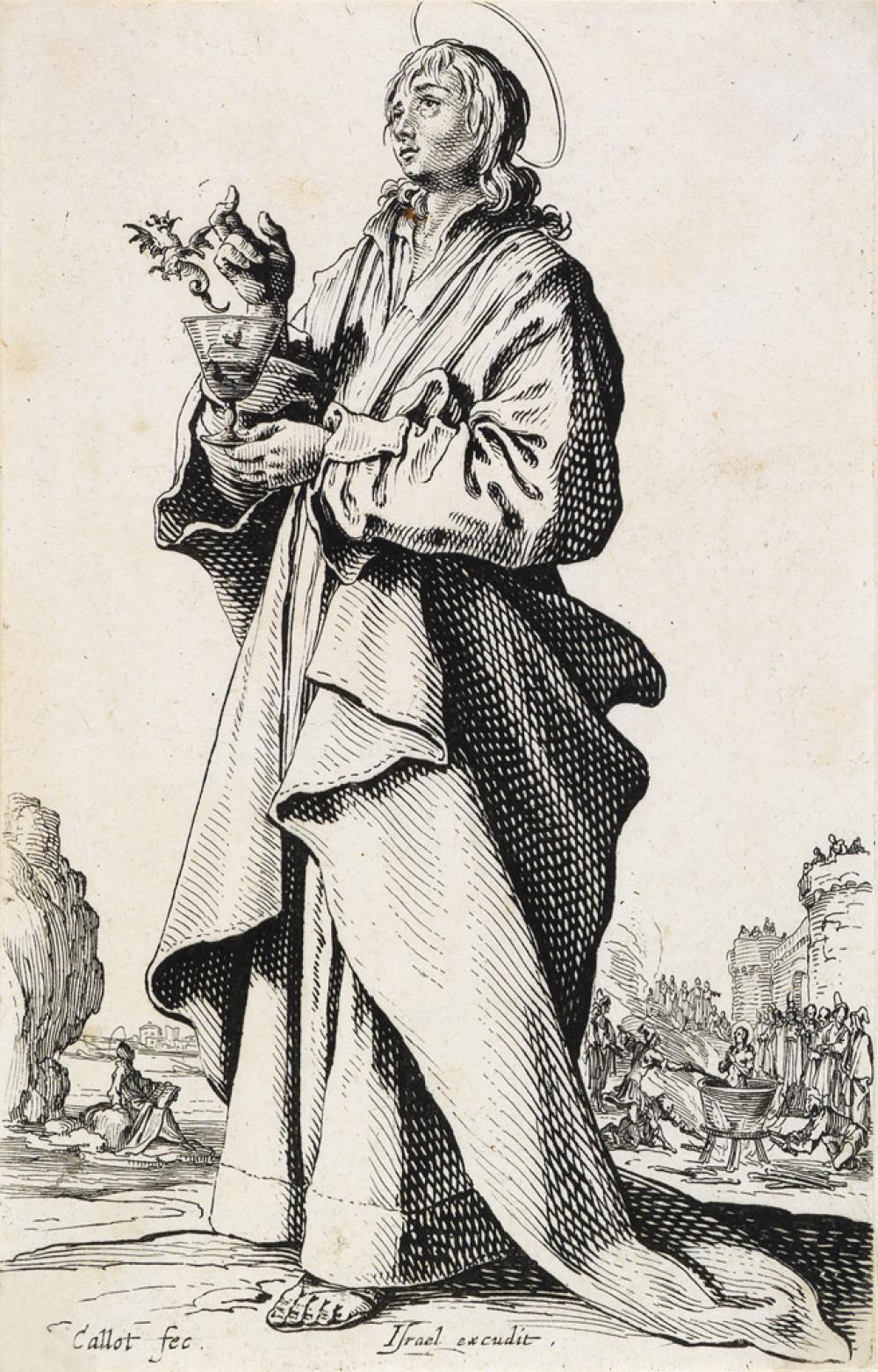 JACQUES CALLOT Les Grands Apôtres debout.