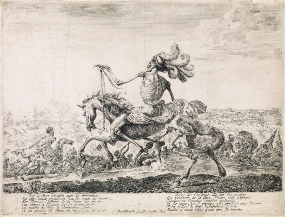 STEFANO DELLA BELLA La Mort sur un champ de bataille.