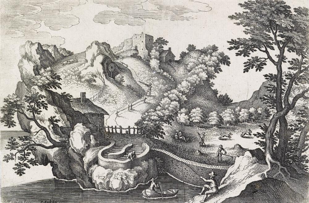 MATTHÄUS MERIAN Anthropomorphic Landscape.