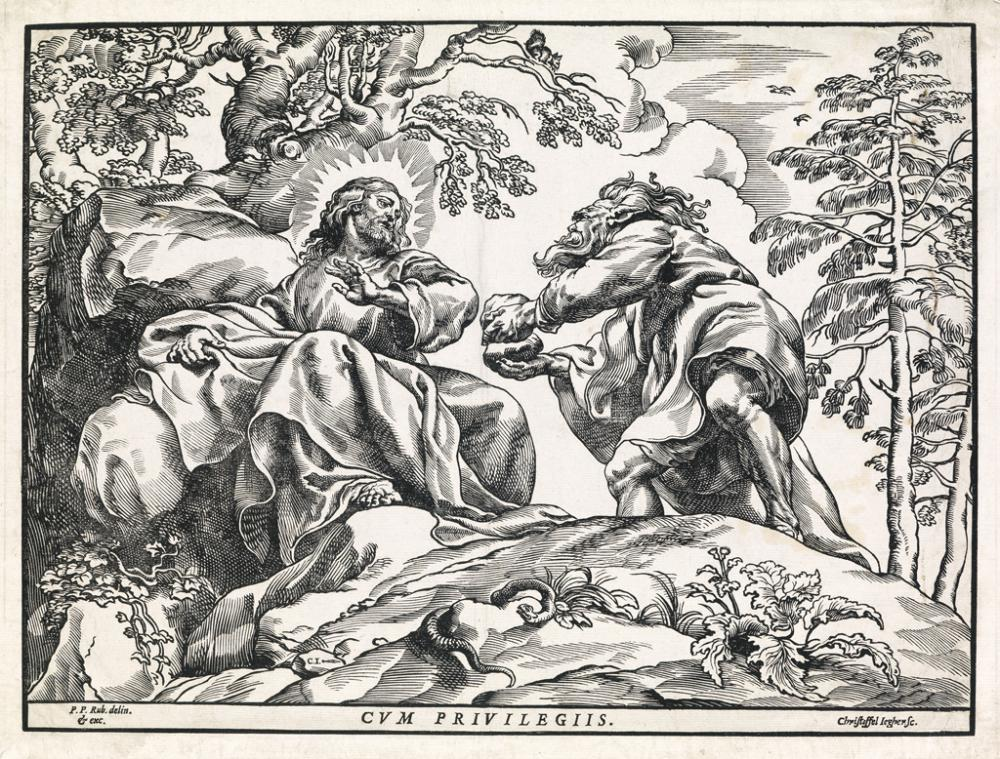 CHRISTOFFEL JEGHER (after Rubens) The Temptation of Christ by the Devil