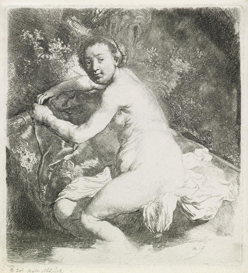 REMBRANDT VAN RIJN Diana at the Bath.