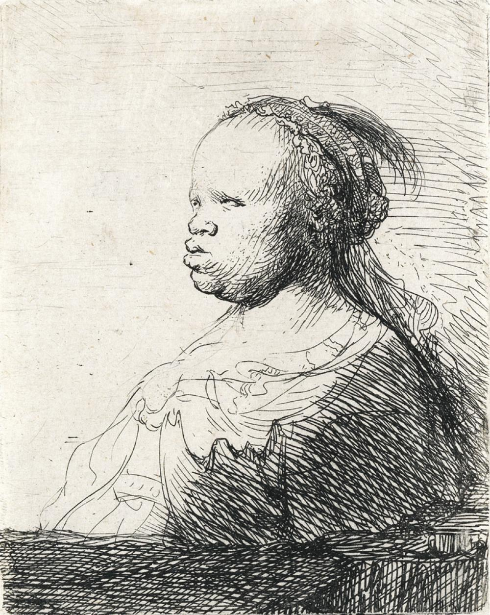 REMBRANDT VAN RIJN The White Negress.
