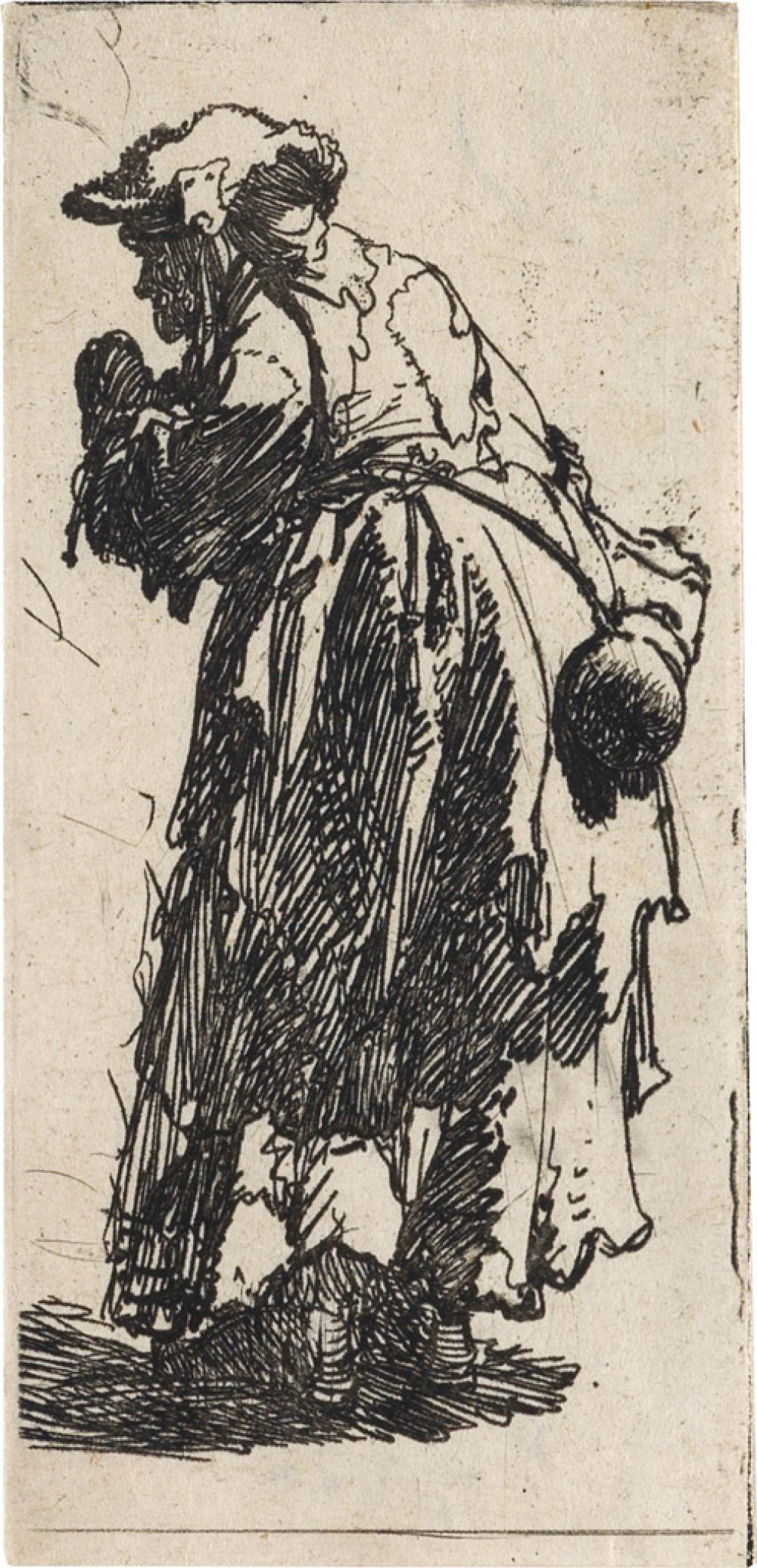 REMBRANDT VAN RIJN Old Beggar Woman with a Gourd.