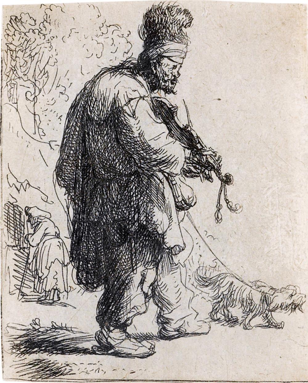 REMBRANDT VAN RIJN The Blind Fiddler.