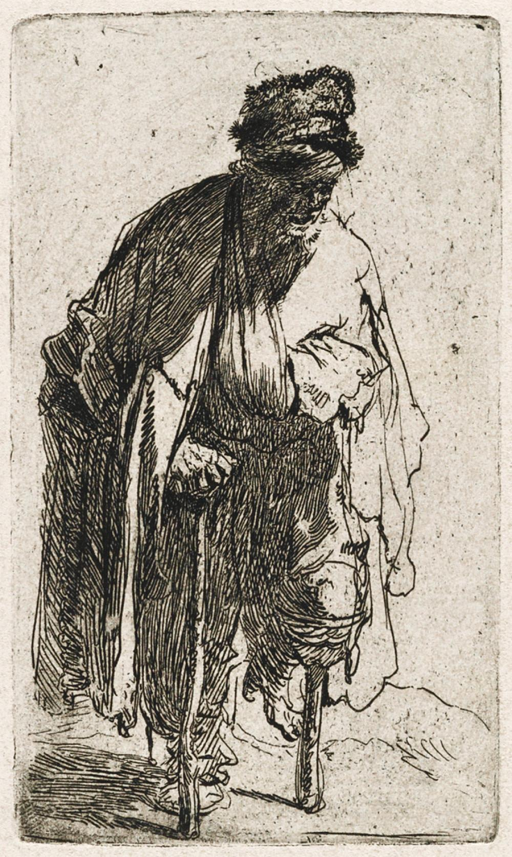 REMBRANDT VAN RIJN Beggar with a Wooden Leg.