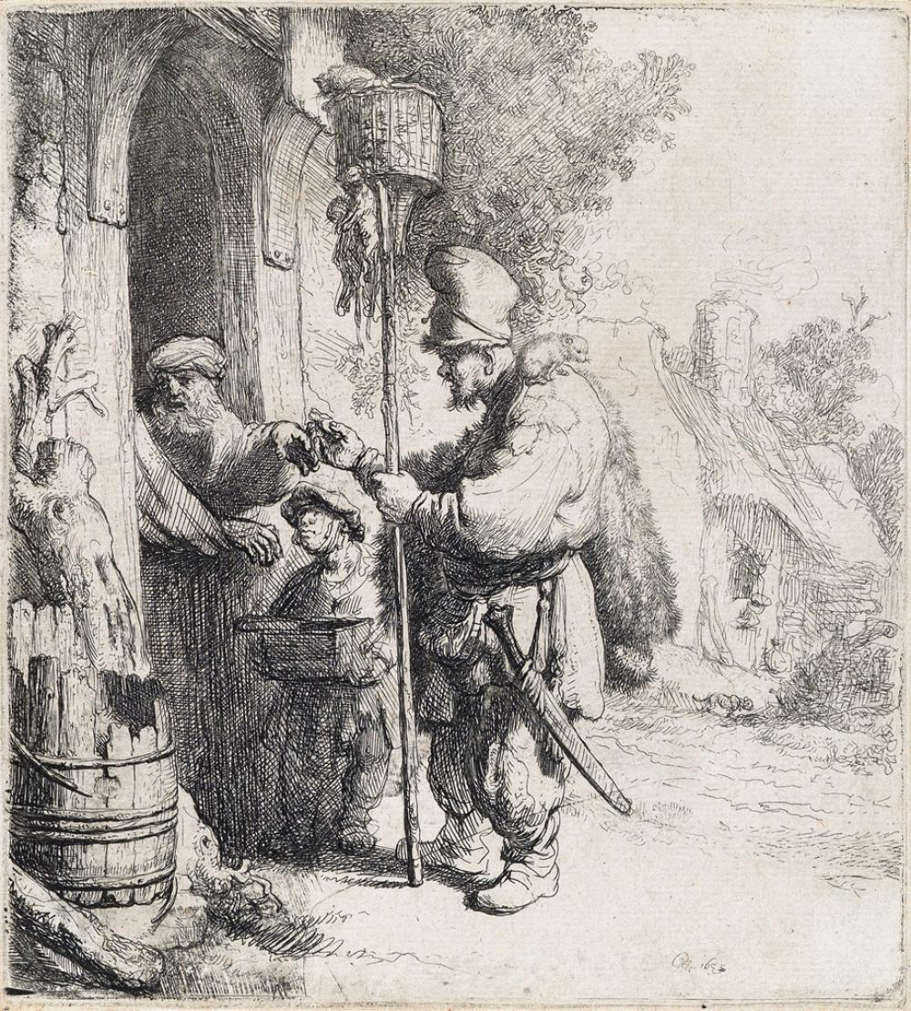 REMBRANDT VAN RIJN The Rat Catcher.