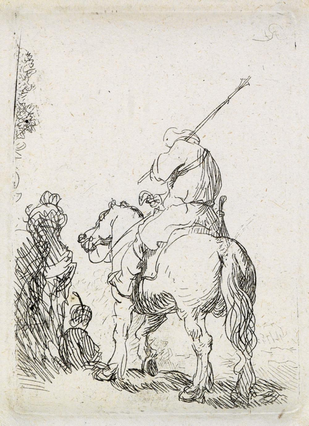 REMBRANDT VAN RIJN The Turbaned Soldier on Horseback.