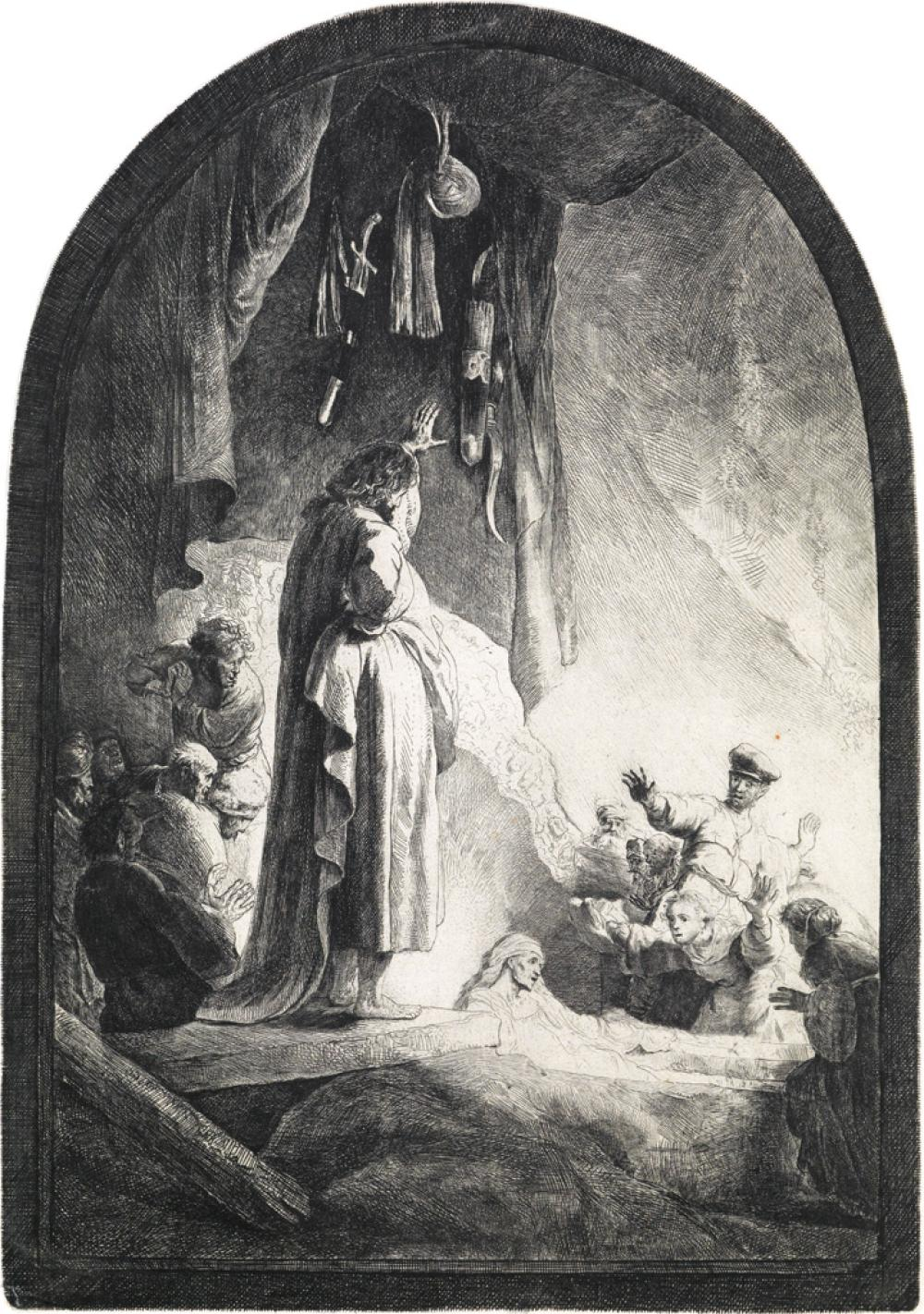 REMBRANDT VAN RIJN The Raising of Lazarus: The Larger Plate.