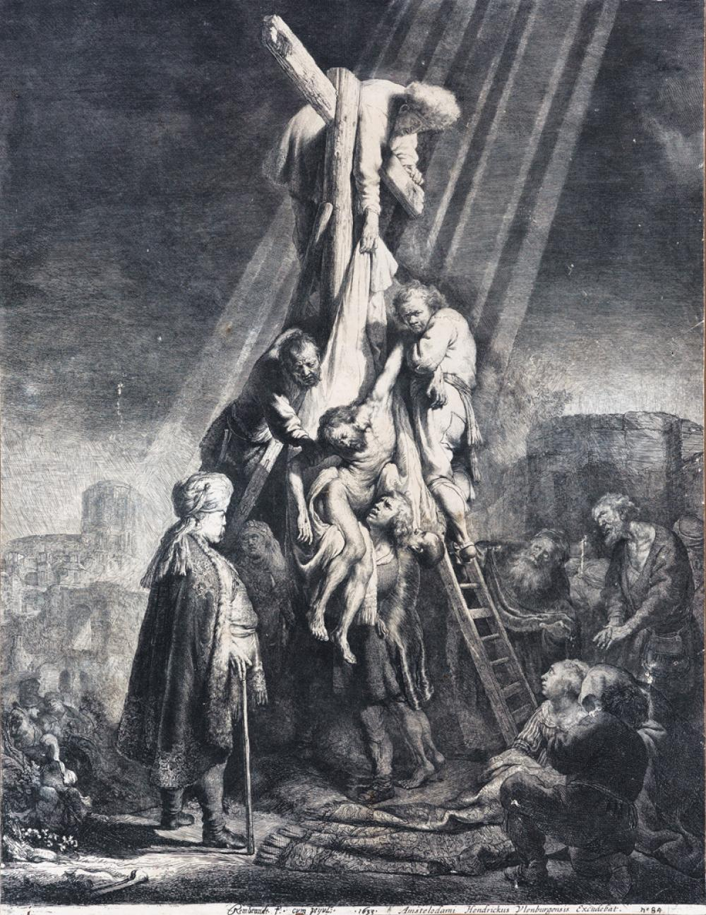 REMBRANDT VAN RIJN Descent from the Cross: Second Plate.