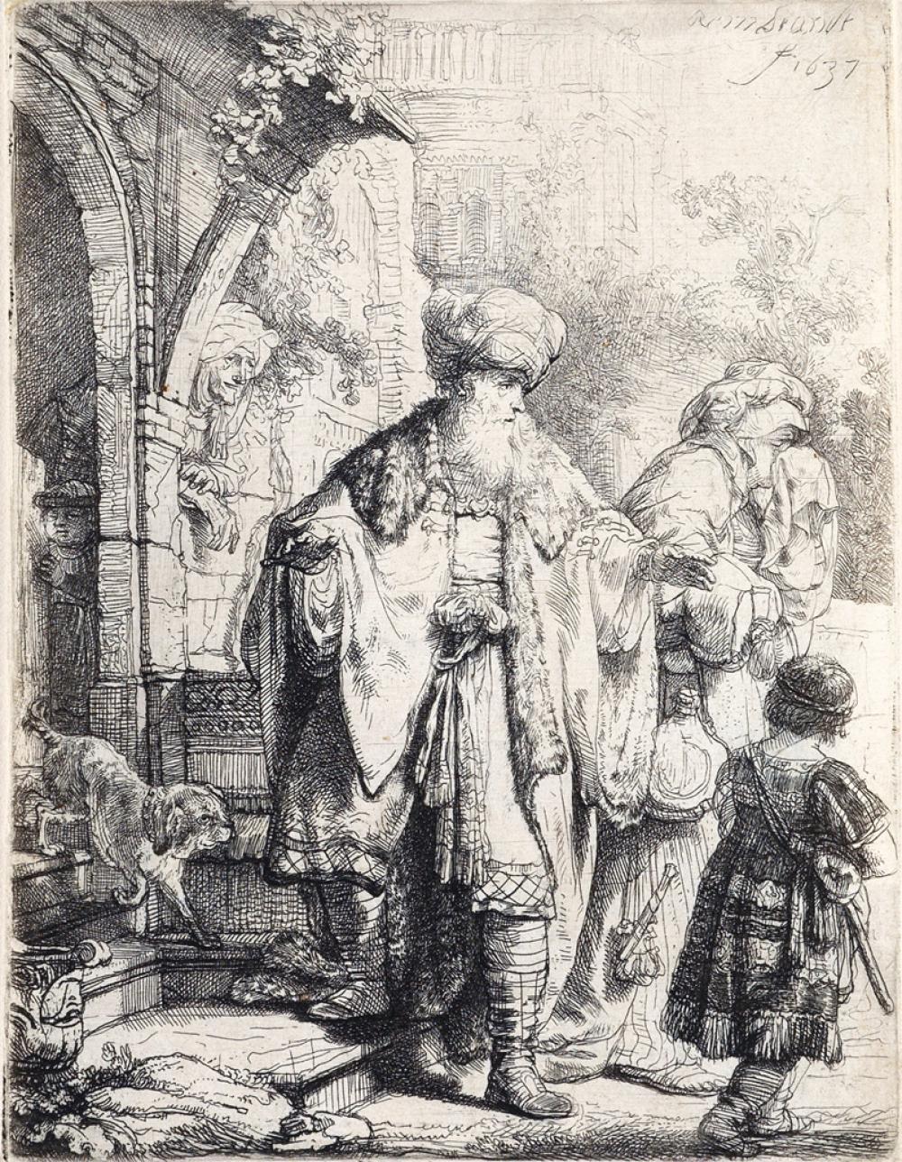 REMBRANDT VAN RIJN Abraham Casting Out Hagar and Ishmael.