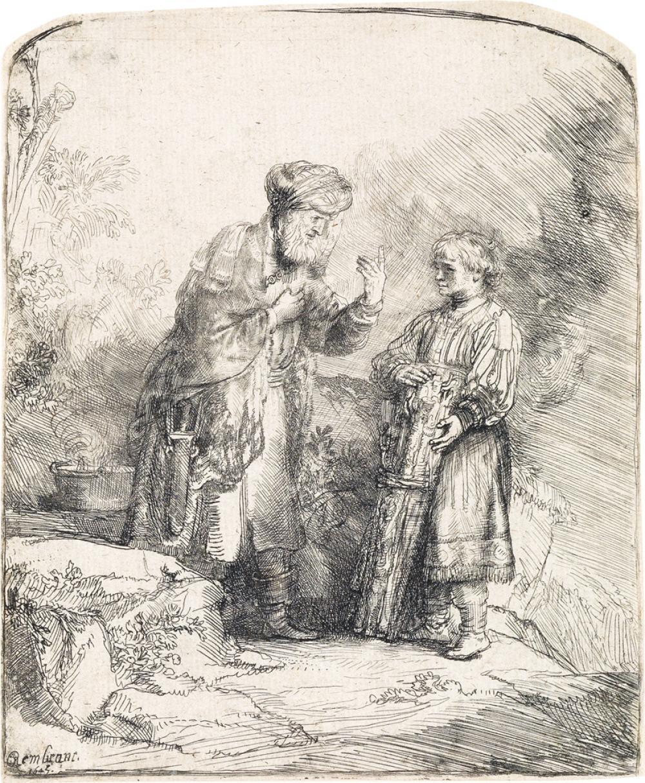 REMBRANDT VAN RIJN Abraham and Isaac.
